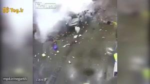 حادثه هولناک انفجار خودرو حین سوخت گیری