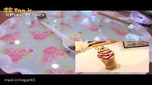آموزش ساخت دستبند استارباکس با استفاده از خمیر گل چینی