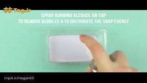 درست کردن صابون رنگین کمانی در خانه