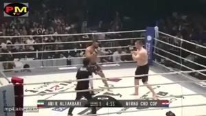 مبارزه جانانه امیر علی اکبری با ورزشکار کروات در ریزین ۲۰۱۷