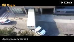 مهارت فوق العاده راننده در پارک تریلی