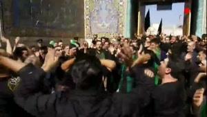 عزاداری عاشقان حسینی در حرم امام هشتم (ع)