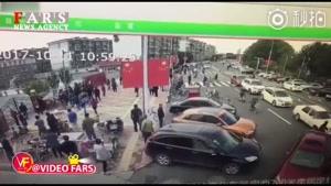 رانندگی جنونآمیز راننده چینی