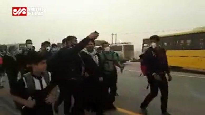 ترافیک شدید در پایانه مرزی مهران