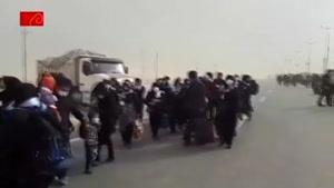 گرد و غبار در مرز مهران