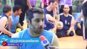 شیطنت بلندقامتترین ورزشکار جهان مقابل دوربین باشگاه خبرنگاران جوان