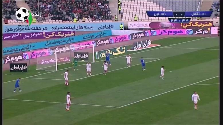 خلاصه بازی استقلال تهران و نساجی مازندران