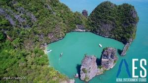 فیلم برداری هوایی از مناظر جذاب تایلند-۴k