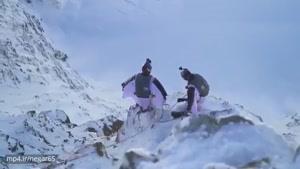 پرش حیرت انگیز دو چتر باز فرانسوی از روی کوهها