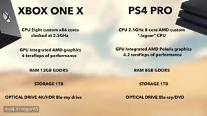مقایسه کامل کنسول های ps۴ pro و Xbox one X