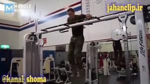 تمرینات افراطی بدنسازی مایکل اکرت سرباز ارتش