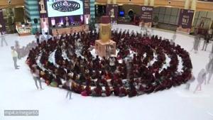 بزرگترین ماساژزنجیره ای سر در هند