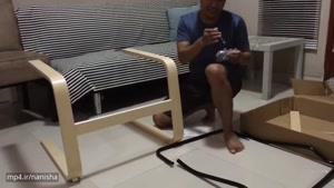 نحوه سرهم ساختن صندلی راحتی PELLO ایکیا