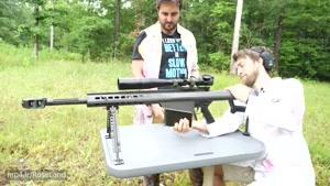 تیراندازی با اسلحه دوربین دار کالیبر ۵۰ چندین برابر آهسته تر