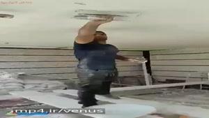 سعید عبدولی دارنده مدال برنز المپیک ریو در حال بنایی