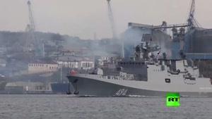 فیلم/ناو روسی مجهز به موشکهای کالیبر عازم سواحل سوریه شد