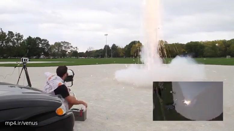 پرتاب شگفت انگیز راکت چندین برابر آهسته تر