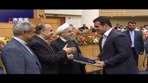 تجلیل روحانی از مدالآوران المپیک، پارالمپیک و قهرمانان سال ۹۴