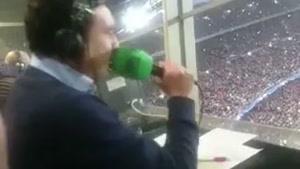 واکنش گزارشگر بازی، آلفردو مارتینز، به گل مسی