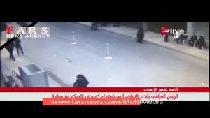 لحظه انفجار انتحاری مقابل کلیسای اسکندریه