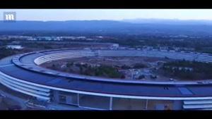 فیلمی از مقر در حال ساخت شرکت اپل