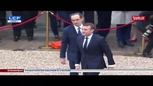 ورود «ماکرون» به کاخ الیزه برای انجام روند انتقال قدرت در فرانسه