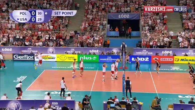 لهستان 1-3 آمریکا