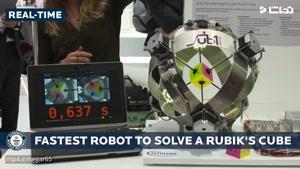 رکورد ربات در حل مکعب روبیک