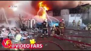 آتشسوزی گسترده در خیابان فدائیان اسلام