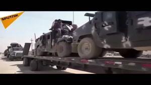 لحظه اعزام نیروهای عراقی به تلعفر