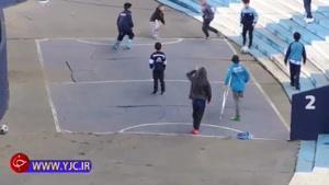 گل دیدنی پسربچه معلول در مسابقه فوتبال