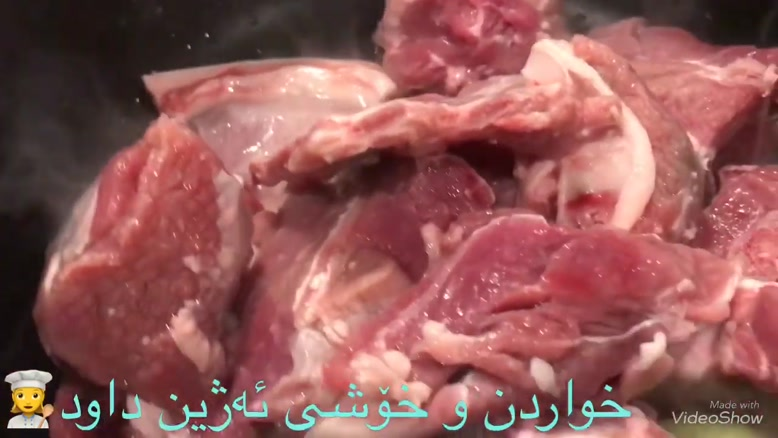 خوراک گوشت دنده گوسفندی