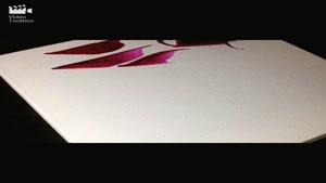 خوشنویسی ، نقاشیخط ، آثار احمد دیزرانی ، مربع مربع