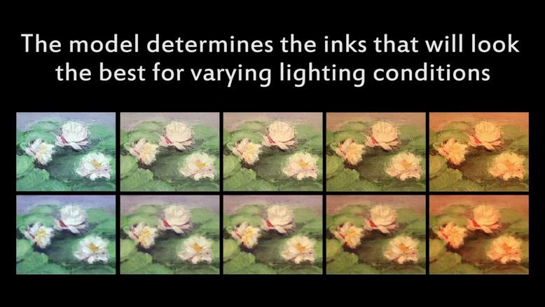 بازسازی نقاشی با دقت بالا توسط چاپگر سه بعدی