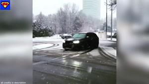 کلیپ دریفت زمستانی ماشین در برف