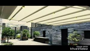 ۰۹۳۰۰۰۹۳۹۳۴-سایبان برقی جمع شو- سازه چادری- سقف رستوران