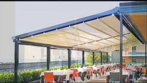 حقانی 09380039391 - پوشش سایبان بازشو رستوران سنتی