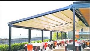 09380039391 حقانی - پوشش باز شونده کافی شاپ - سایبان برقی حیاط رستوران