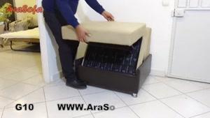 کاناپه تختخوابشو ( تختخواب شو ) یک نفره آرا سوفا ( مبل آرا ) مدل g۱۰