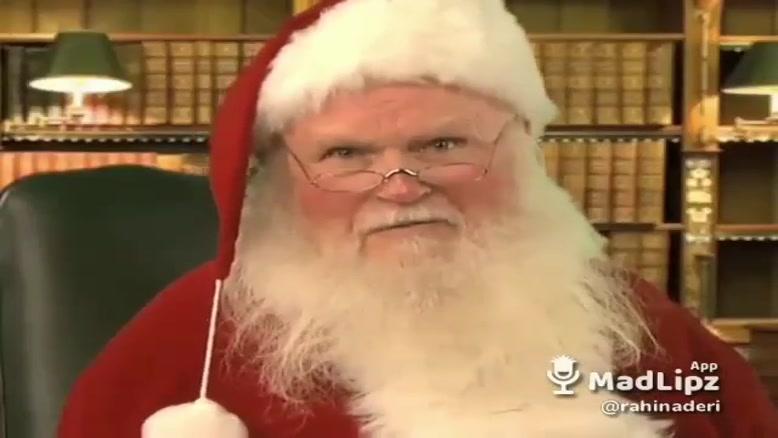 تبریک کریسمس به ایرانیان از زبان بابا نوئل😌