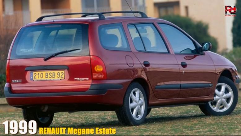 سیر تکاملی خودرو رنو مگان از سال ۱۹۹۵-۲۰۱۹