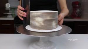 تزیین کیک با طرح سبد کاکتوس