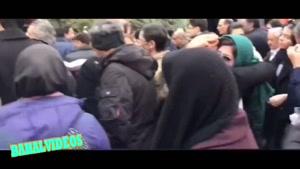 گلایه های خانم بازیگر در مراسم تشییع مرحوم حسین محب اهری
