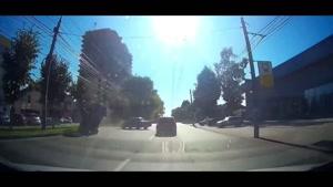 تصادف خفن ماشین ها در جاده و خیابانها