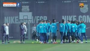 اولین تمرین بواتنگ در باشگاه بارسلونا