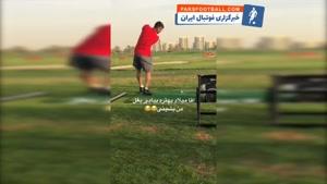 چالش گلف بازیکنان تیم ملی در امارات