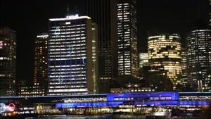 نورپردازی خانه اپرای سیدنی در فستیوال Vivid