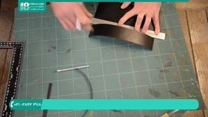 ساخت کاور چرم برای دفترچه لاکچری