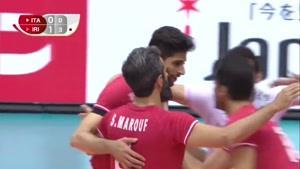 خلاصه بازی والیبال ایران و ایتالیا