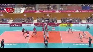 خلاصه بازی والیبال ایران و ;کانادا در  رقابت های جام جهانی ژاپن